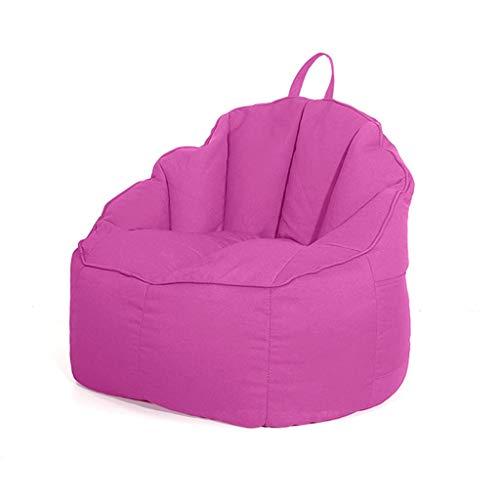 Puff Descargas Digitales de Respaldo Alto Silla Sofá, Sala de Estar Dormitorio Lazy Silla Tatami, for Juegos Silla de jardín, 75 * 70 * 75cm (Color : Pink)