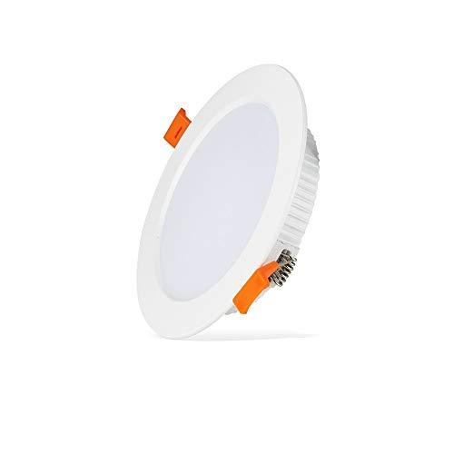 Mumnk Ultra delgado LED Iluminación empotrada Techo Downlight Redondo de aluminio Integrado Proyector integrado Panel direccional Lámpara de techo Alto CRI AC 85-265V Para la exposición de negocios De