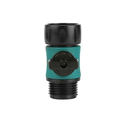 1 unids 3/4 Válvula de hilo externo Válvula de conector Jardín Familia Familia Caja fuerte Interruptor de ida Válvula de tubería de agua Conexión rápida Accesorios de pistola de agua ( Color : Black )