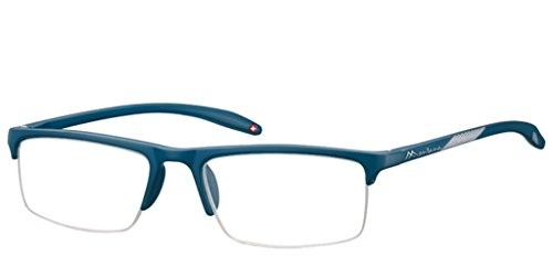 Montana MR81A azul medio borde gafas de lectura a juego con bolsa suave 100 250 100 300 350 (150)