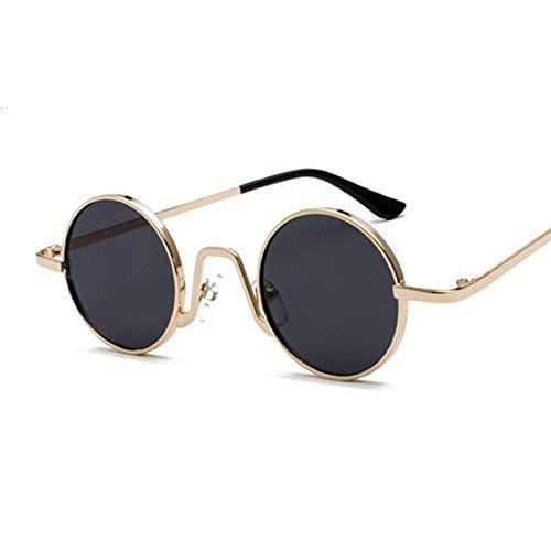 NJJX Gafas De Sol Redondas Vintage Para Mujer, Hombre, Gradiente De Color Caramelo, Gafas De Sol Para Mujer Y Hombre, Gafas Al Aire Libre, Fiesta, Goldgray