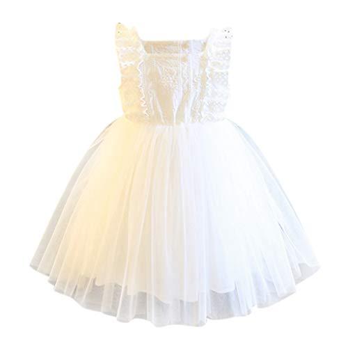 Janly Clearance Sale Falda de vestido para niñas de 2 a 7 años de edad, vestido de tul bordado para fiesta de desfile de princesa, bonito regalo para 4 a 5 años de Pascua, día de San Patricio (blanco)