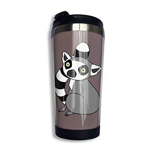 G Tailed Lemur Sitting Gifts Travel 304 Stainl - Taza de café con aislamiento al vacío (13 onzas)