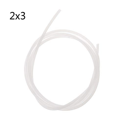 jenor Impresora 3D 1m PFA PTFE Manguera teflón J Reprap extruder de Diadema para V5V61.75mm 3.0mm Filamento 1