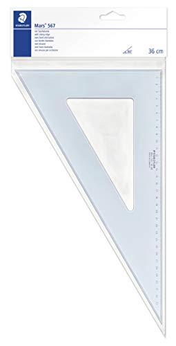 Staedtler 567 36 Mars Plexiglas Zeichendreieck 36 cm, blau-transparent, 60°/30°