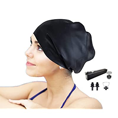 Amazon - 50% Off on Extra Large Thicken Swim Cap for Braids and Dreadlocks Extensions Weaves