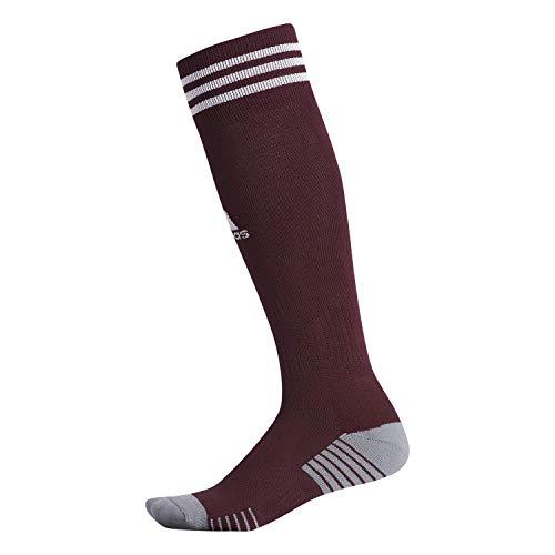 adidas Copa Zone Cushion Iv Soccer Socks (1-Pair), Maroon/Team Maroon/White, XS (Shoe Sizes, Youth 9C-1Y)