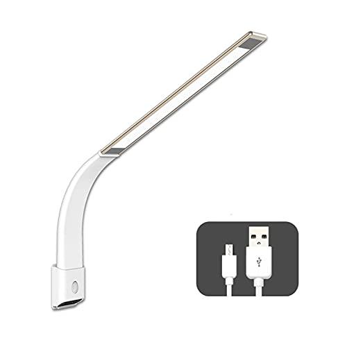 zlw-shop Lámpara de Escritorio LED Creativa 6W Lámpara de protección de Ojo de Pared de Pared Dimmable Lámpara de Lectura de la Oficina con Puerto de Carga USB (Color : Gold)