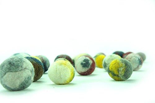 kivikis Cat Toy Wool Ball Lot de 10 balles en laine douce et légère