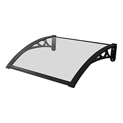 LPD Door Window Rain Shelter Cover for Front Door Porch Outdoor Garden Door Canopy Durable Arched Bracket UV Protection 4 Sizes (Color : Clear, Size : 60×80cm)