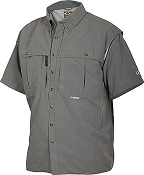 Drake Casual Shirt Short Sleeve  Steel Blue Medium