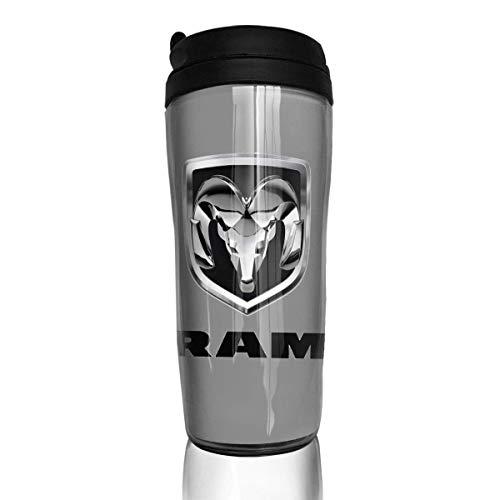 Qurbet Kaffeebecher Thermobecher mit Schraubdeckel, Coffee Mugs, Ram Trucks Dodge Logo, Milk Tea Drinking Water Bottle Coffee Mug Coffee Tumbler for Women Men
