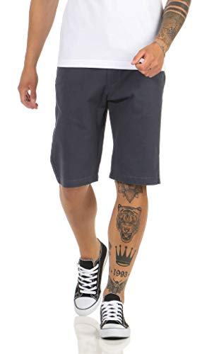 Stanley Herren Shorts Kurze Chino Hose Baumwolle Capri Vintage Short 30074 (W42, Navy)