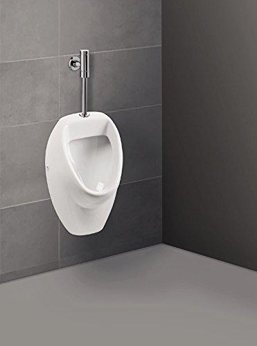 'aquaSu® Urinal Absaugeurinal Set, Druckspüler Zulauf von oben, Becken, weiß