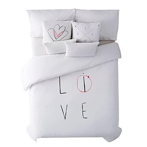 Belum | Funda nórdica con Botones 100% algodón Modelo Love | Funda Nórdica Cama | Funda Nórdica de Calidad | Funda Nórdica con Botones (Cama 105)