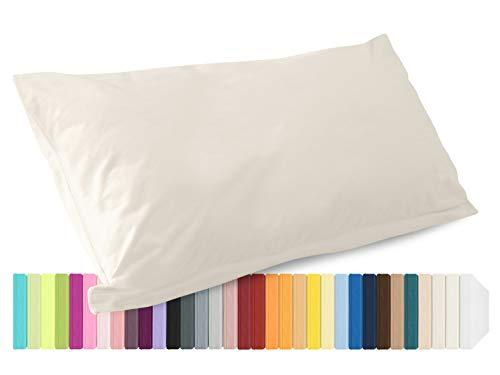 Schlafgut Mako Jersey Spannbetttuch 15001 oder  Kissenbezug 15101 - Baumwolle 406.463, leinen, Kissenbezug 40 x 80 cm