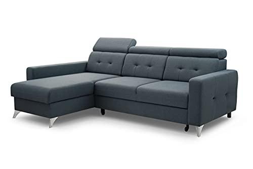 Ecksofa mit Schlaffunktion mit Bettkasten Sofa Couch L-Form Polstergarnitur Wohnlandschaft Polstersofa mit Ottomane Couchgarnitur (242cmx170cmx84cm)-LIROY...