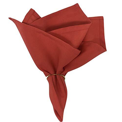 Guardanapo de Tecido Oxford Vermelho 40cmx40cm com Anel - 4 unds