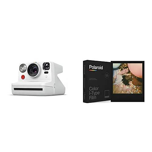Polaroid - 9027 - Polaroid Now Fotocamera Istantanea i-Type, Bianco + 6019 - Pellicola Istantanea Colore per i-Type – Black Frame Edition