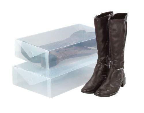 Wenko Aufbewahrungsbox, für Stiefel, 2er Set, 30 x 11 x 52 cm, transparent