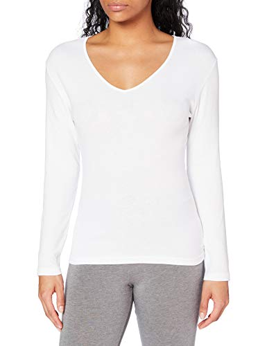 Playtex Camiseta M/L 100% algodón térmica Camiseta, Mujer, Blanco (Blanco 000), 40 (Tamaño del...