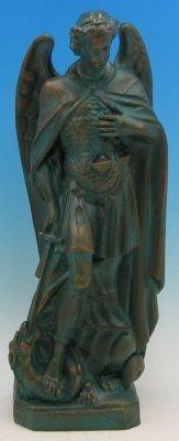 24 inch Saint Michael The Archangel- Outdoor Vinyl Statue, Patina Finish