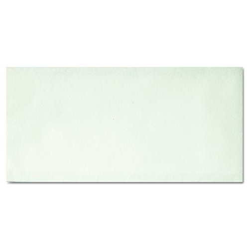 """Hoffmaster 856499 Linen-Like Disposable Guest Towel, 1/6 Fold, Unfolded size 12"""" Width x 17"""" Length, Folded size 4.5"""" X 8.5"""" , White (5 Packs of 100)"""