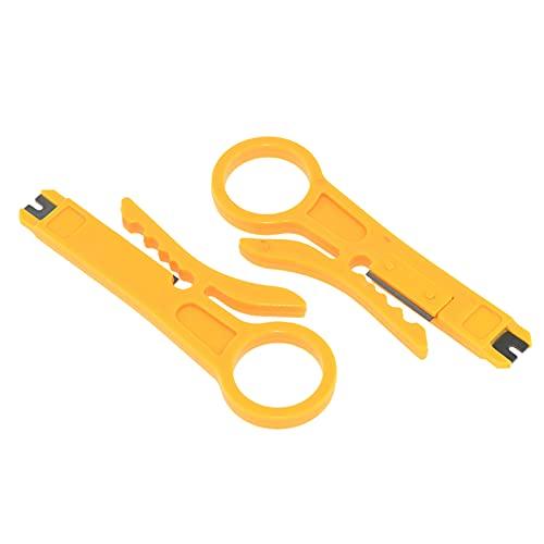 Fesjoy Alicates de Alambre, 2pcs Mini alicate Pelacables portátil alicate Cortador de engarzado Multifuncional para Cable de Impresora 3D Cable PTFE