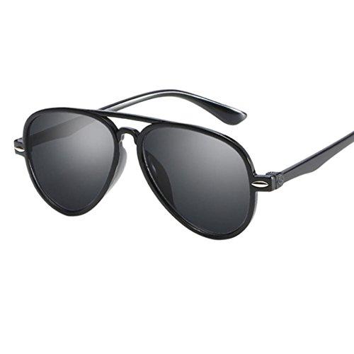 Gafas de Sol Lonshell Gafas de Sol para niños niñas bebés Gafas de Arco Iris 8 Colores Gafa Moda (3T-12T, Negro)
