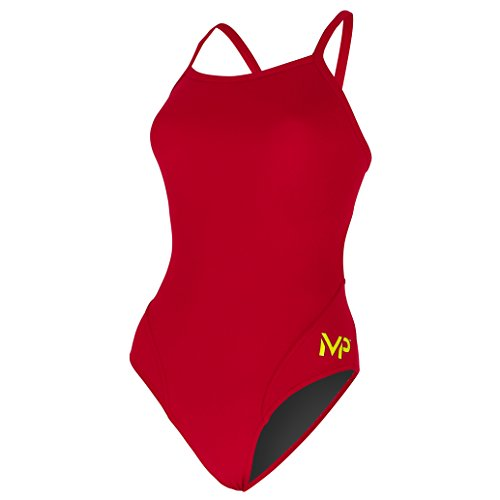 MP™ (Michael Phelps) Damen Badeanzug Mid Back Solid XL rot