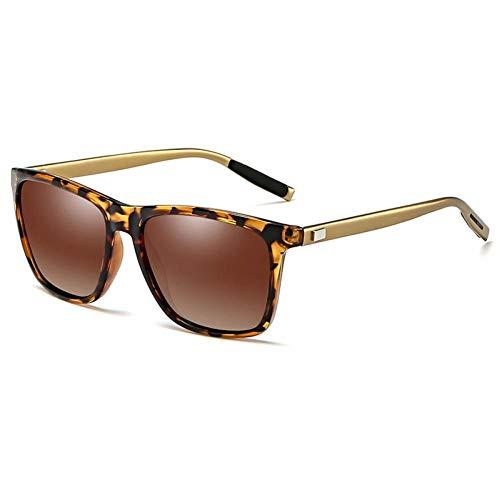 ZZOW Gafas De Sol Polarizadas Cuadradas Retro para Hombre, Gafas De Sol para Conducción Al Aire Libre, Gafas para Mujer, Gafas Uv400, Gafas De Sol