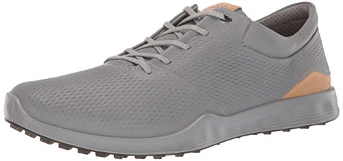 ECCO Men's S-Lite Golf Shoe, Wild Dove Yak Leather, 7-7. 5