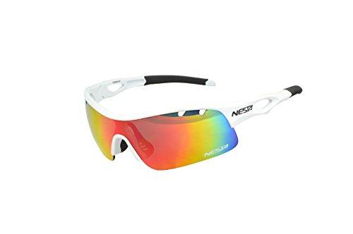Nesta Esus Sportbrille, Unisex Erwachsene Einheitsgröße mattweiß
