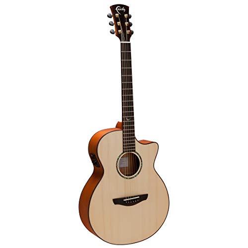 Faith FV-PERC Natural Series Venus Elektroakustische Gitarre mit Cutaway und Perkussiv-Tonabnehmer
