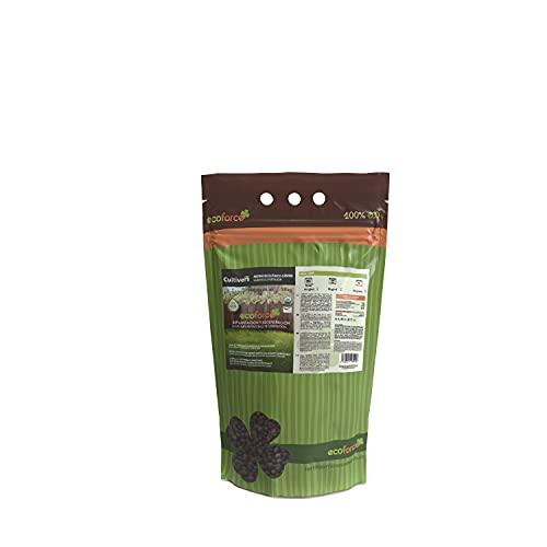 CULTIVERS Abono Ecológico Especial Césped de 1,5 Kg. Fertilizante de Origen Vegetal 100% Orgánico y Vegano Granulado de Liberación Lenta y Controlada con NPK 8-1-5+74% M.O. y Ác. Húmicos