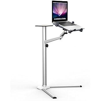 Support sur pied multifonction universel en aluminium, avec bras pivotant inclinable, pour ordinateur portable et tablette