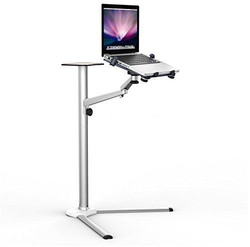 ThingyClub Universal Aluminium Laptop Tablet Multi Function Floor Stand Tilt Swivel Single Arm Support Holder