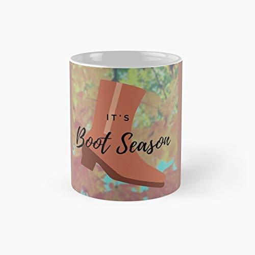 It's Boot Season Classic Mug Birth-day Holi-day Gift Drink Home Kitchen