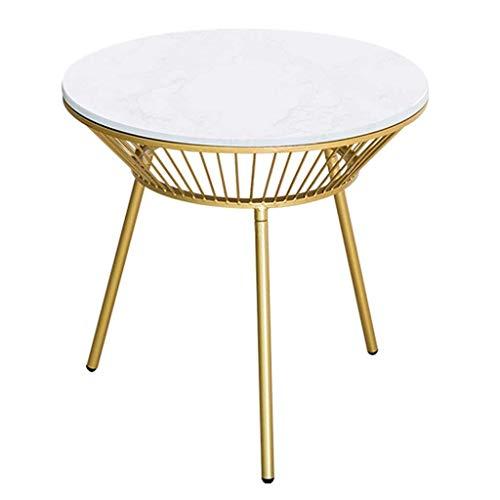 Salontafel Woonkamer Hoek Nordic Marble Sofa Tafel Thuis Dining/Lamp/Einde Tafel Bijzettafel, Metalen Benen, Eenvoudige Montage: 54,5 x 76 cm