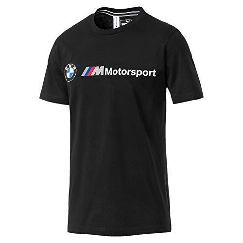 PUMA Mens BMW M Motorsport Logo Tee, Puma Black, S