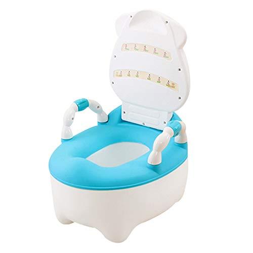 Orinal Bebe Boys for niños y niñas for sillas de entrenamiento insignificante asiento de la silla for ir al baño antideslizante for ir al baño for ir al baño Animal Vaca con manijas de rosa / azul Or
