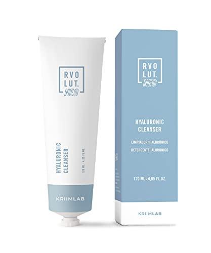 120 ml. Limpiador Facial con Ácido Hialurónico - 2 en 1 Limpieza e Hidratación - Jabón Limpiador Facial - Hidratación Profunda - 1r Paso de la Rutina Facial