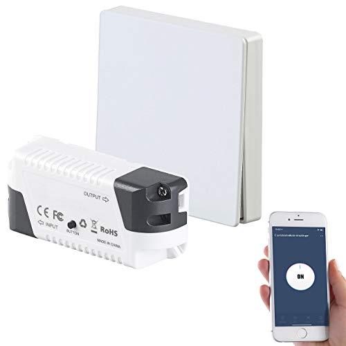 revolt Smart Home Schalter: Funk-Empfänger und -Schalter, komp. zu Siri, Alexa & Google Assistant (Lichtschalter Funk)