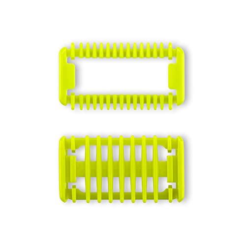 Pettine di ricambio per kit viso corpo per Philips Oneblade e One Blade Pro QP2520 QP2530 QP2630 QP6510 QP6520 Tagliacapelli Kit per barba (2 pezzi)