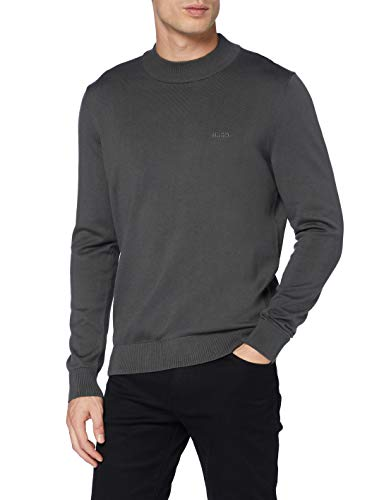 HUGO Mens San Raffael Sweater, Charcoal (16), S