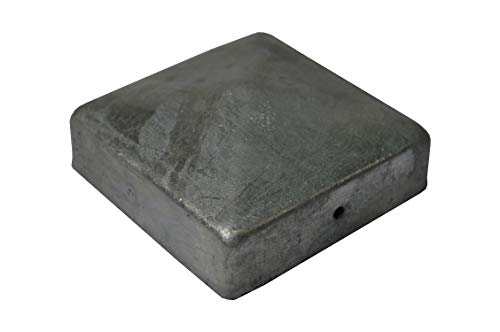 1 X Pyramide Pfostenkappe 12X12 cm verzinkt 121X121 mm Kappe Pfostenabdeckung Abdeckung Pfosten Pfostenschutz Pyramidenabdeckung 12,1 X 12,1cm / 120 X 120 mm