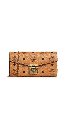 MCM Women's Patricia Mini Bag, Cognac, Tan, Print, One Size