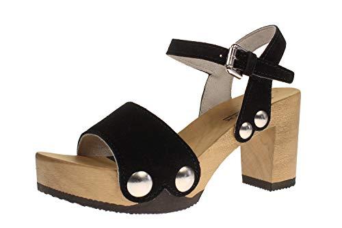 Softclox S3337 EILYN Kaschmir - Damen Schuhe Sandaletten - 09-schwarz, Größe:40 EU
