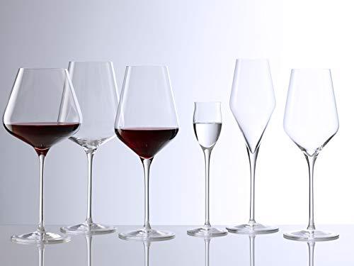 Copas de vino estilo Burdeos Quatrophil de Stölzle Lausitz, de 644 ml, juego de 6 copas, imitan el vidrio soplado, de máxima calidad y compatibles con lavavajillas