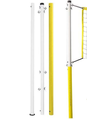 STC Anti Rust Coated Height Adjustable Volleyball Pole 60 MM × 75 MM (2.5' × 3.0') with Nylon NET